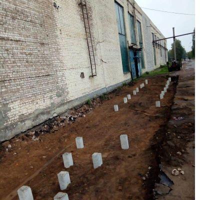 Завод СромМашина. Фундамент под линию производства фанеры.