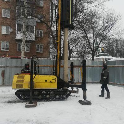 г. Ярославль. ул. Большая Федоровская 84. Монтаж свай под ИЖС