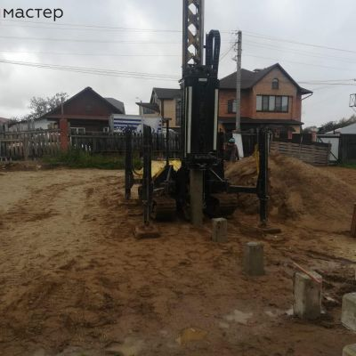 г. Кострома, Ул. Овражная. Монтаж свай под ИЖС двух домов.