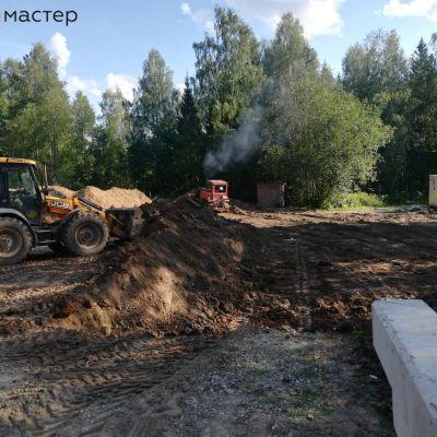 Чухломской район. д Осташово. Лесной терем. Строительство хоз. блока и гостиницы для персонала.
