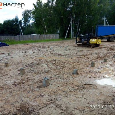 п. Чухлома, монтаж свай под строительство лыжной базы